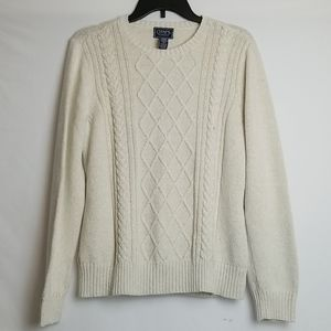CHAPS CABLE KNITTED SWEATER WITH SHIMMER